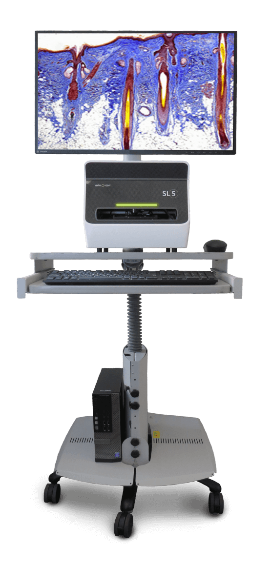 Mikroscan SL5 Cart Screen Display Digital Pathology